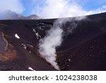 etna volcano craters in sicily  ... | Shutterstock . vector #1024238038