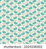seamless vector floral pattern... | Shutterstock .eps vector #1024238302