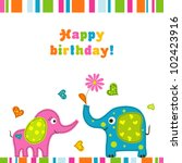 template greeting card  vector... | Shutterstock .eps vector #102423916