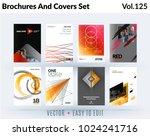 set of design of brochure ...   Shutterstock .eps vector #1024241716