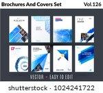set of design of brochure ... | Shutterstock .eps vector #1024241722