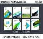 set of design of brochure ... | Shutterstock .eps vector #1024241728