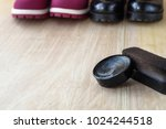shoes and scouring cream on the ... | Shutterstock . vector #1024244518