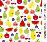 seamless pattern of bright... | Shutterstock . vector #1024246732