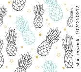 vector doodle black blue summer ... | Shutterstock .eps vector #1024250242