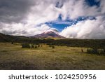 cotopaxi volcano in the... | Shutterstock . vector #1024250956