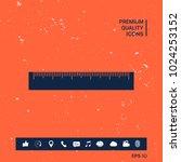 the ruler icon | Shutterstock .eps vector #1024253152
