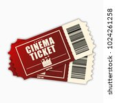 cinema ticket. template of red... | Shutterstock .eps vector #1024261258