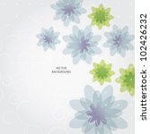 wedding card or invitation with ... | Shutterstock .eps vector #102426232