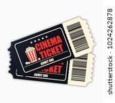 cinema ticket. template of... | Shutterstock .eps vector #1024262878