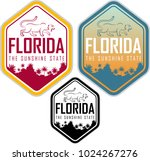 florida vector label with palms ...   Shutterstock .eps vector #1024267276