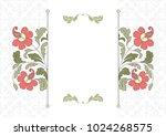 floral pattern for invitation... | Shutterstock .eps vector #1024268575