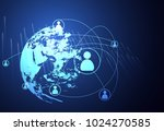 abstract technology concept... | Shutterstock .eps vector #1024270585