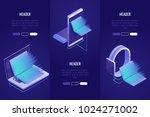 set of 3 conceptual headings.... | Shutterstock .eps vector #1024271002