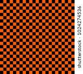 black and orange checkered... | Shutterstock .eps vector #1024274536