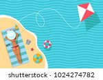 top view vector banner with... | Shutterstock .eps vector #1024274782