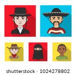 a mexican  a jew  a woman from... | Shutterstock .eps vector #1024278802