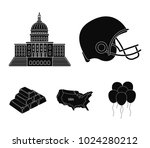 football player's helmet ... | Shutterstock .eps vector #1024280212
