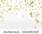 golden party flags with... | Shutterstock .eps vector #1024281265