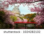Himeji Castle With Red Bridge...
