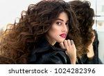 portrait of beautiful fashion... | Shutterstock . vector #1024282396