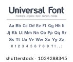 universal font for food  drink  ... | Shutterstock .eps vector #1024288345