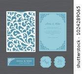 wedding invitation or greeting... | Shutterstock .eps vector #1024289065