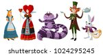 Stock vector alice in wonderland classic characters 1024295245