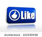 like blue 3d button with white... | Shutterstock . vector #102430438