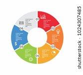 circle infographic design... | Shutterstock .eps vector #1024307485