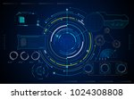 ui hud artificial intelligence... | Shutterstock .eps vector #1024308808