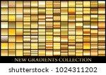 gold gradient set background... | Shutterstock .eps vector #1024311202