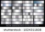 silver gradient set background... | Shutterstock .eps vector #1024311838