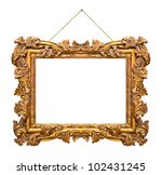 Retro frame at string isolated...