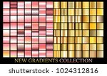gold rose gradient set... | Shutterstock .eps vector #1024312816