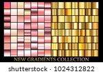 rose gold gradient set... | Shutterstock .eps vector #1024312822