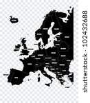 map of europe | Shutterstock .eps vector #102432688
