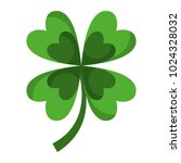 four leaves clover good fortune | Shutterstock .eps vector #1024328032