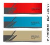 set of blank modern creative... | Shutterstock .eps vector #1024330798