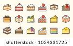 Set Of Cake  Tiramisu  Cheese...