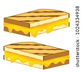 an image of a grilled cheese... | Shutterstock .eps vector #1024334938