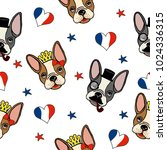 french bulldog seamless pattern.... | Shutterstock .eps vector #1024336315