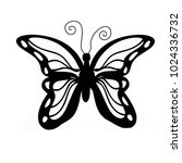 butterfly watercolor silhouette ... | Shutterstock . vector #1024336732