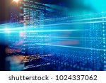 programming code abstract... | Shutterstock . vector #1024337062