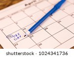april 15th is the due day for... | Shutterstock . vector #1024341736
