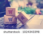 online shopping   ecommerce and ... | Shutterstock . vector #1024343398
