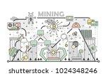 bitcoin mining concept vector... | Shutterstock .eps vector #1024348246