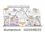 healthy lifestyle concept... | Shutterstock .eps vector #1024348252
