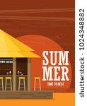beach bar. flat vector | Shutterstock .eps vector #1024348882