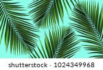 jungle illustration with palm... | Shutterstock . vector #1024349968
